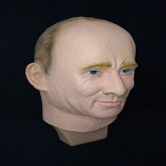 الرئيس الروسي فلاديمير بوتين قناع اللاتكس كامل الوجه هالوين أقنعة مطاطية حفلة تنكرية الكبار تأثيري الدعائم بدلة فاخرة