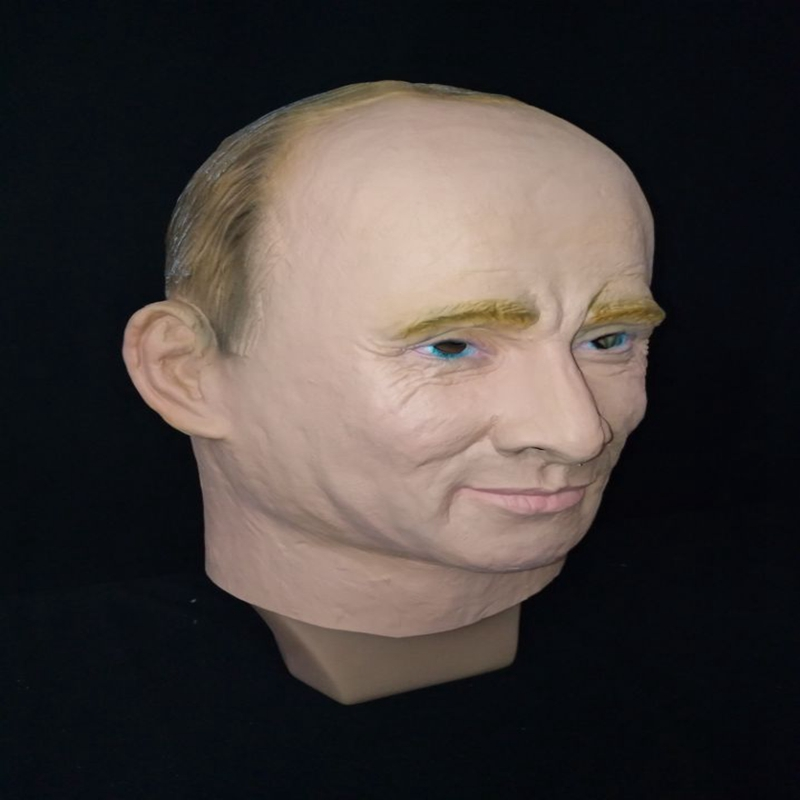 Russian President Vladimir Putin Latex Mask Full Face Halloween Rubber Masks Masquerade Party Adult Cosplay Fancy Costume Props