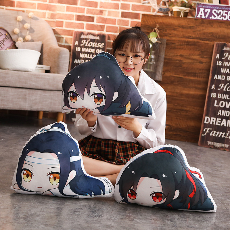 50cm Mo Dao Zu Shi Plush Doll Pillow Wei Wuxian LanWangji Cartoon Figure Bolster Pillow Fans Gift Anime Around
