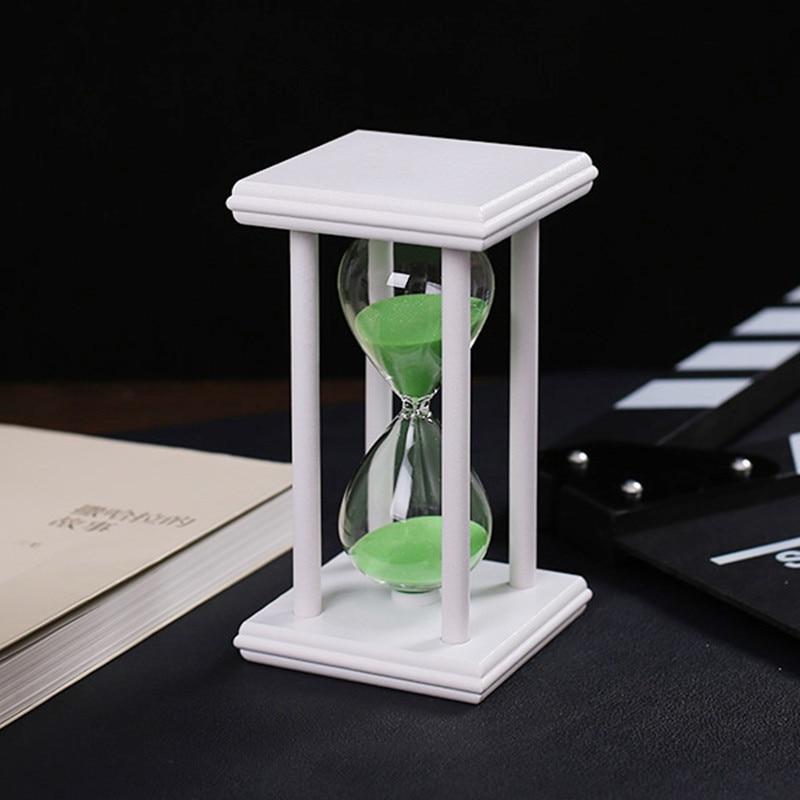 30 Minuten Kristall Transparent Sand Sanduhr Timer Sanduhr Timer - Wohnkultur - Foto 5