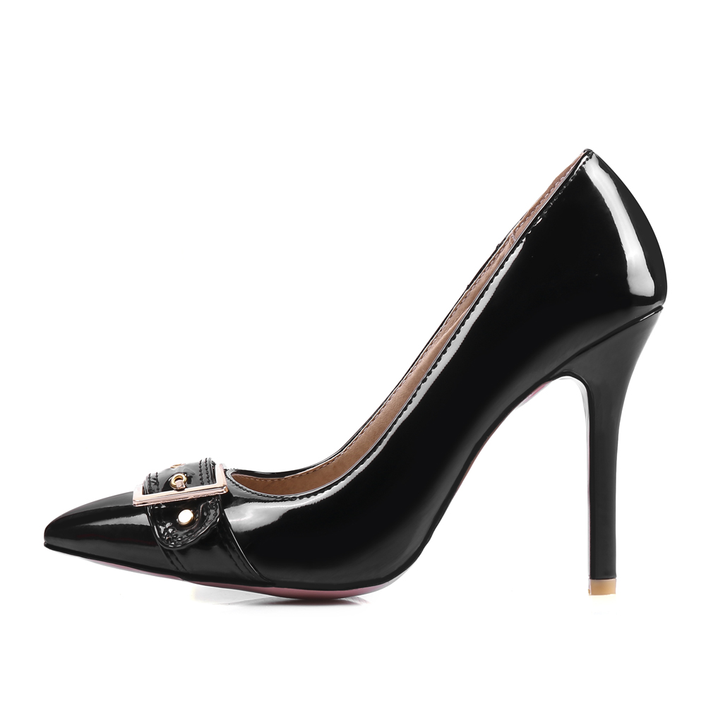 2017 Brand New Sexy Black Red Women Glossy Formal Pumps White Fashion High Heels Dress Ladies Shoes EM3-8 Plus Big Size 33 47 12 brand new hot sexy women nude pumps black pink apricot ladies formal shoes high heels aqb 2 plus big size 43 10