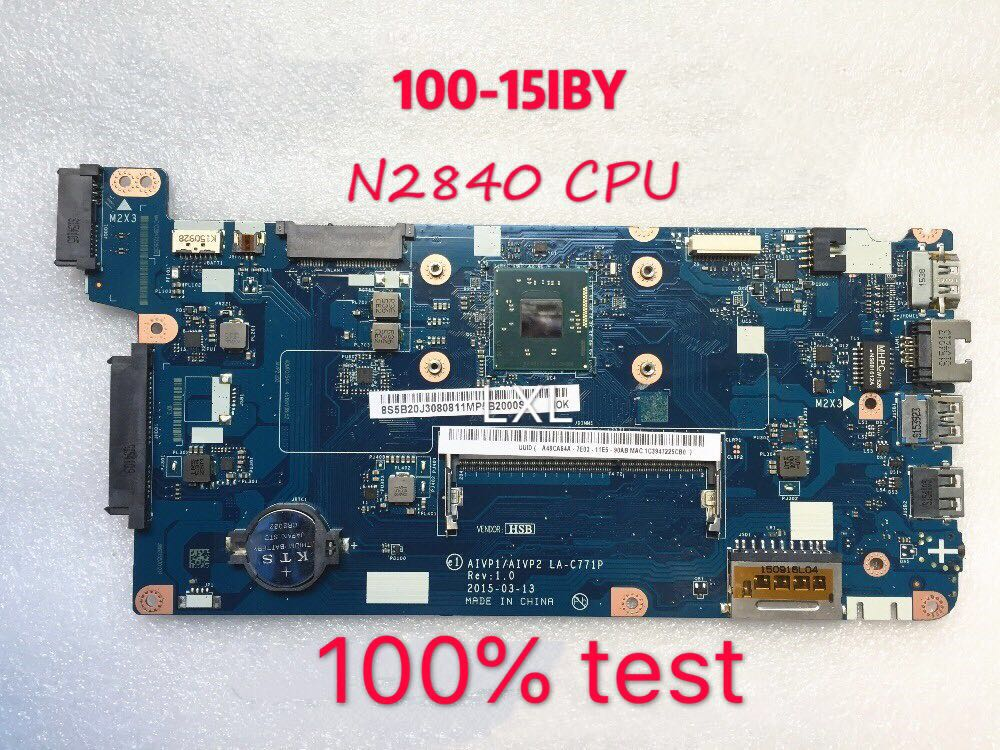 New  AIVP1/AIVP2 LA-C771P Motherboard For Lenovo B50-10 100-15IBY Laptop Motherboard Com CPU N2840 100% Test OK