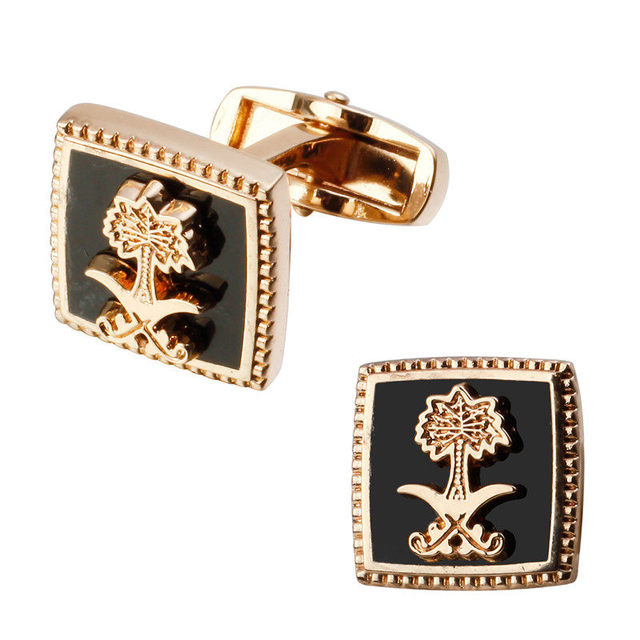 Flag Masonic Cufflinks High Grade Golden Horse Pattern Mens Jewelry Shirt Cuff