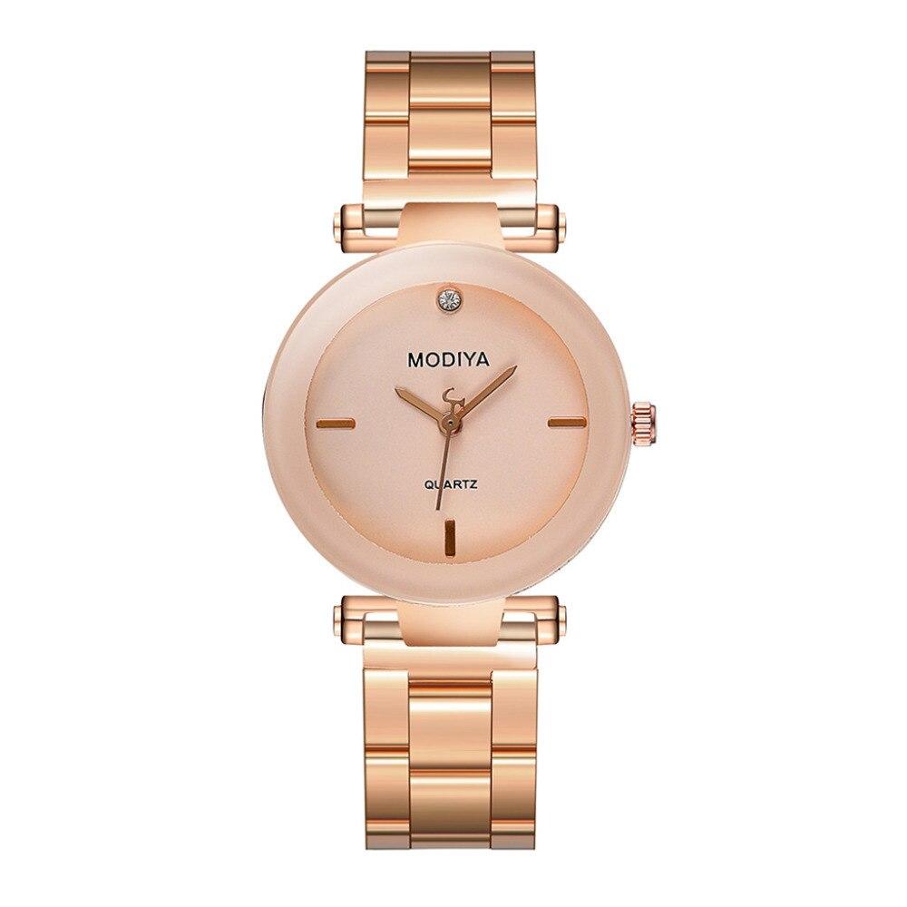 New Women Watch Luxury Brand Metal Stainless Steel Strap Quartz Bracelet Watch Exquisite Girl Ladies Quartz Wrist Watch Gift #B