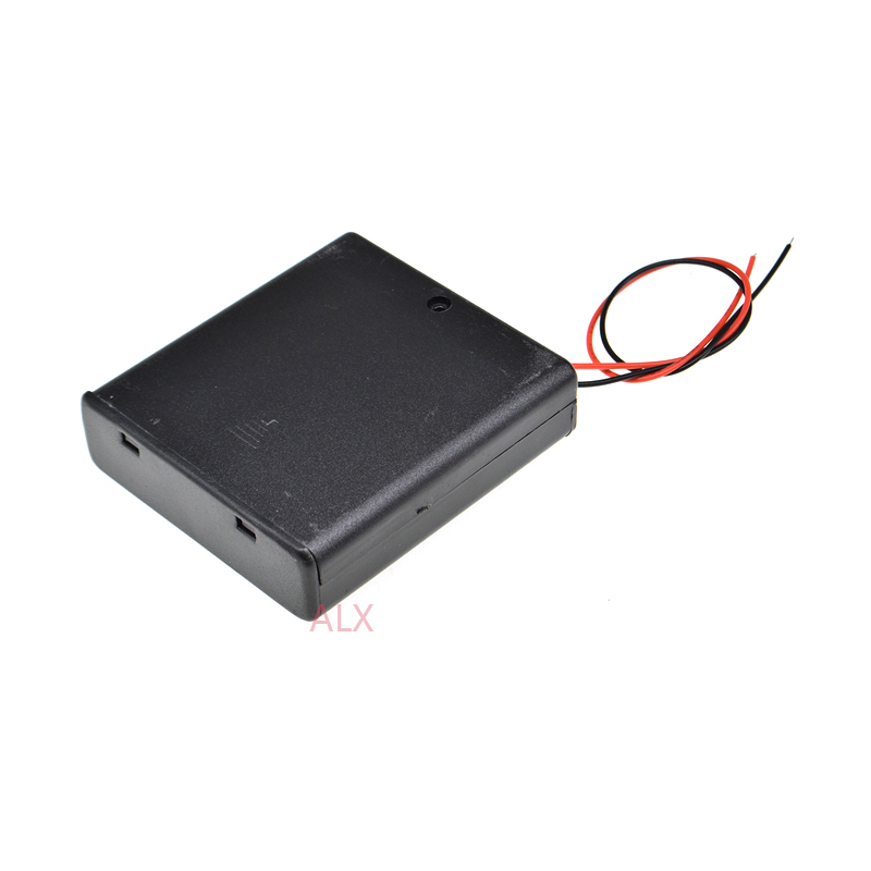1pcs 6V Battery Holder Box Battery Box with 6/'/' Wire Lead 4* AA 4 x AA