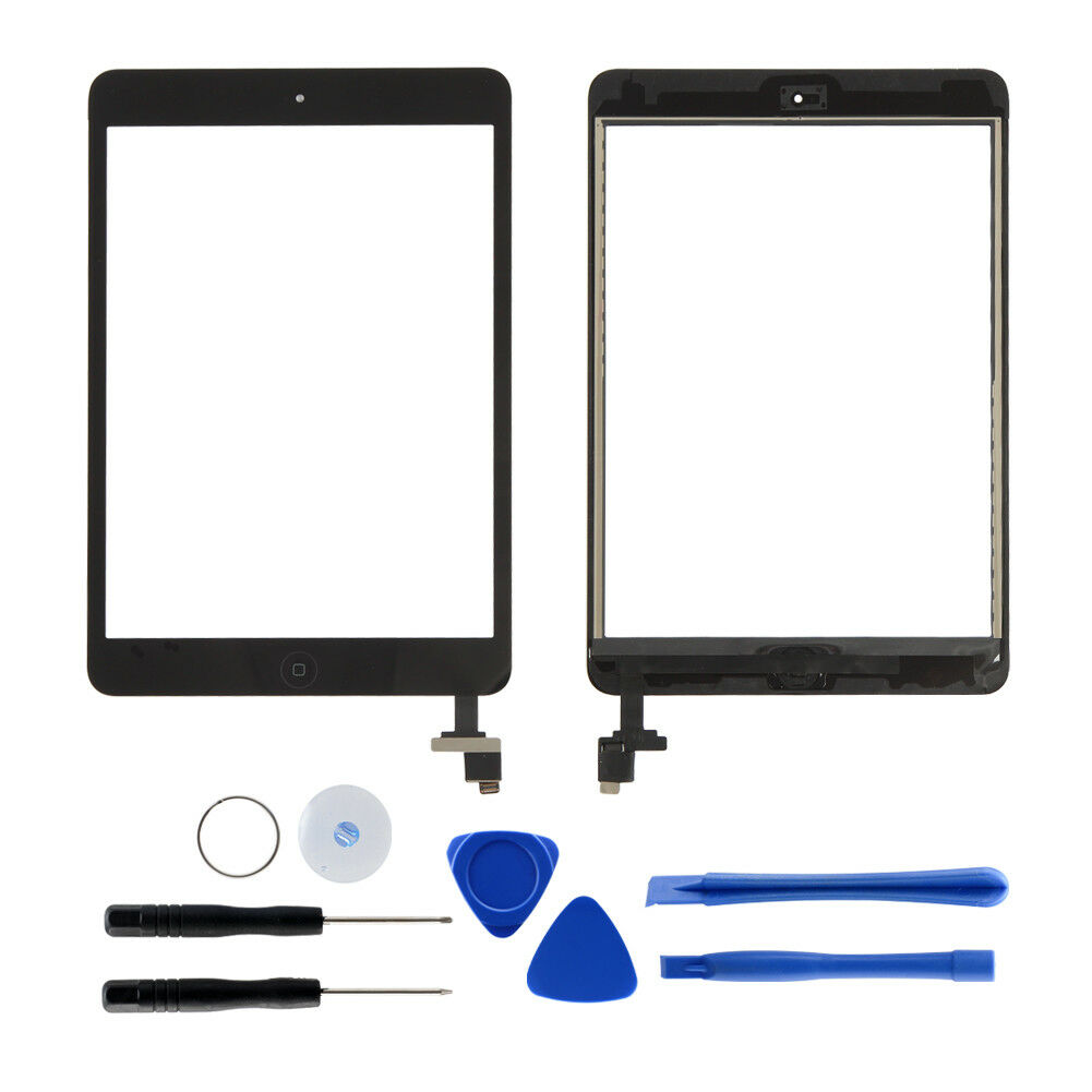 Black Touch Screen For <font><b>iPad</b></font> <font><b>mini</b></font> 1/<font><b>2</b></font> A1432 A1454 A1455 <font><b>A1489</b></font> Digitizer Screen Replacement +IC image