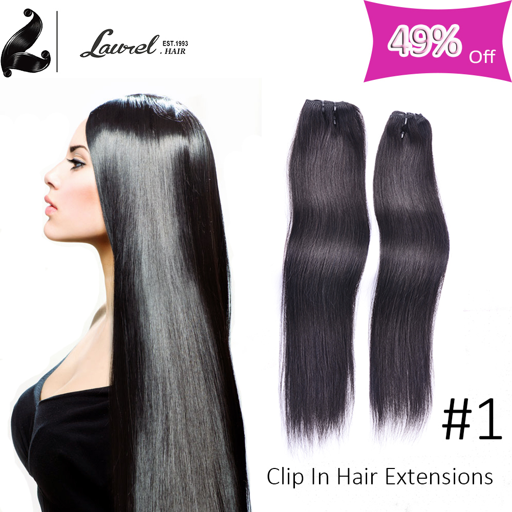 Straight Brailzina Virgin Blonde Clip In Human Hair Extensions 16-24inches Clip En Extensions De Cheveux Humains Silky Straight