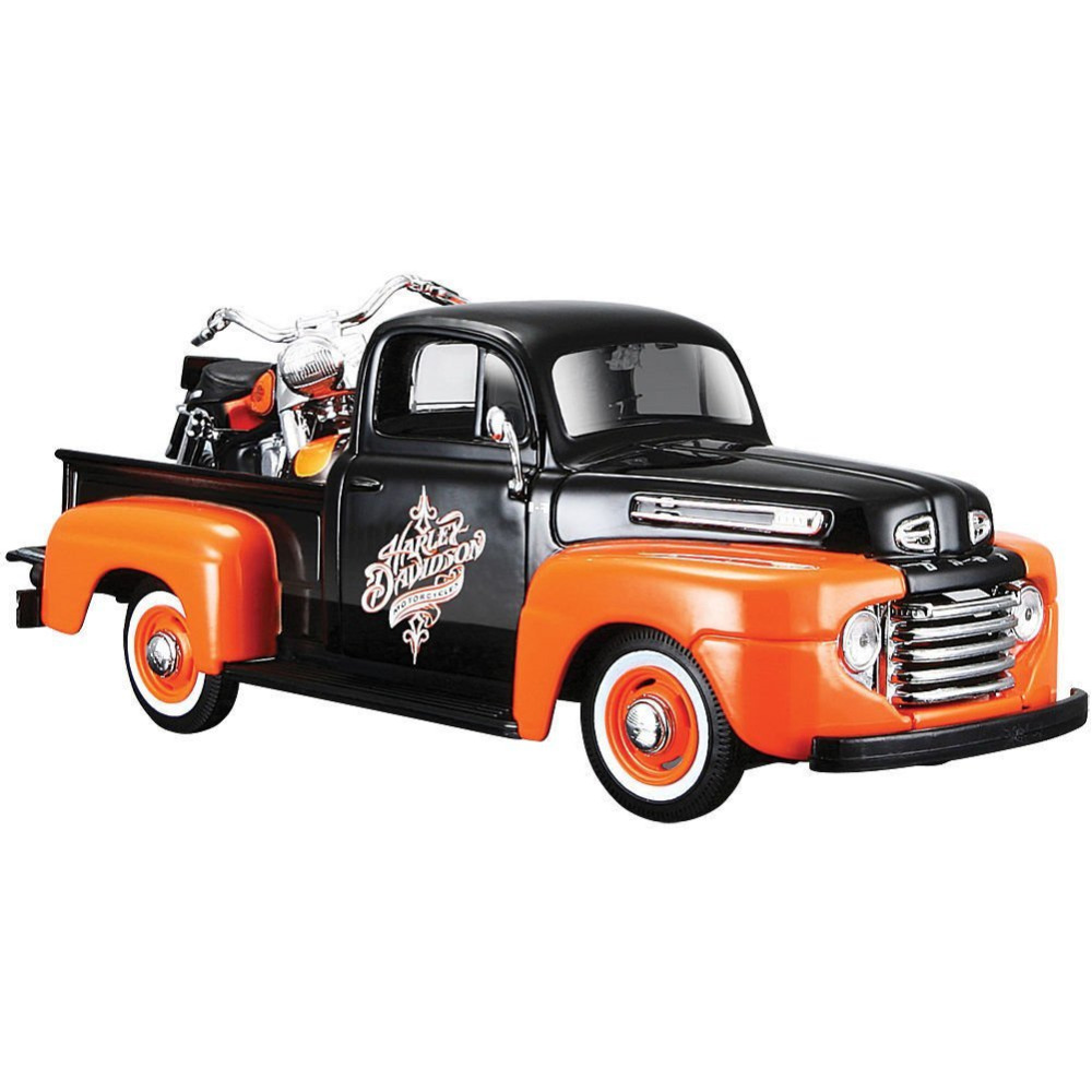 Maisto 1:24 Harley Ford 1948 FORD F-1 PICKUP 1958 FLH DUO GLIDE Motorcycle Bike Diecast Model Car Toy New In Box Free Shipping