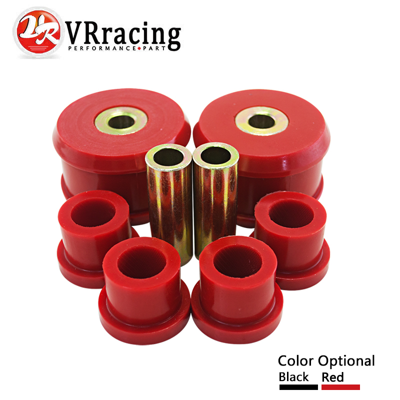VR RACING - Front Control Arm Bushing Kit FOR VW Beetle 98-06 / Golf 85-06 / Jetta 85-06 Polyurethane BLACK,RED VR-CAB01 vr racing racing s14 adj front lower control arm blue only pair for nissan vr9832