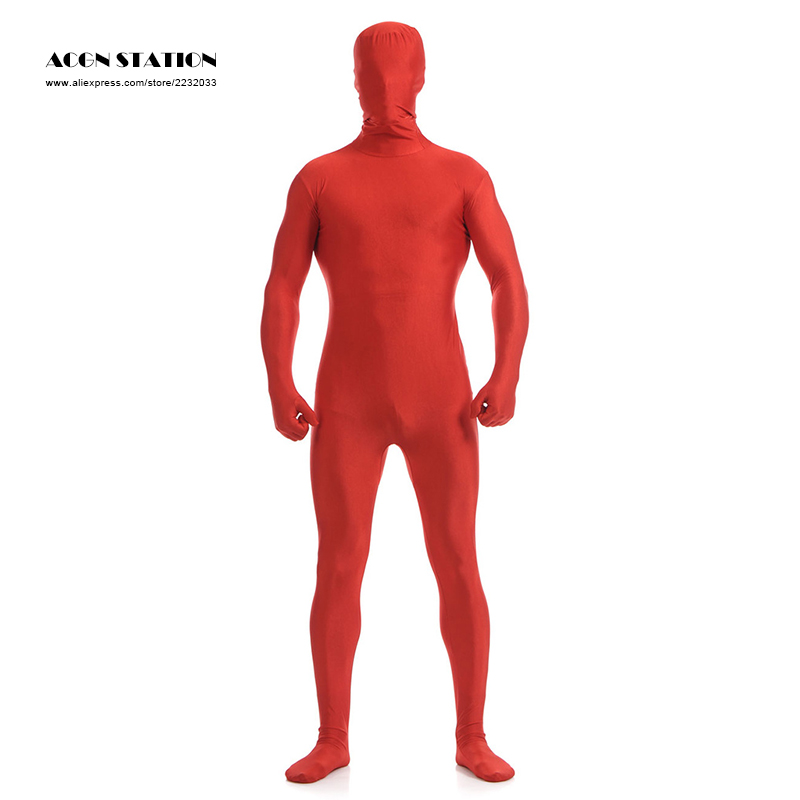 587b9fefed2 24hr ship out 2018 Red Lycra Spandex Zentai Suit for Men Halloween Jumpsuit  Romper Rush order Same day shipping-in Zentai from Novelty   Special Use on  ...
