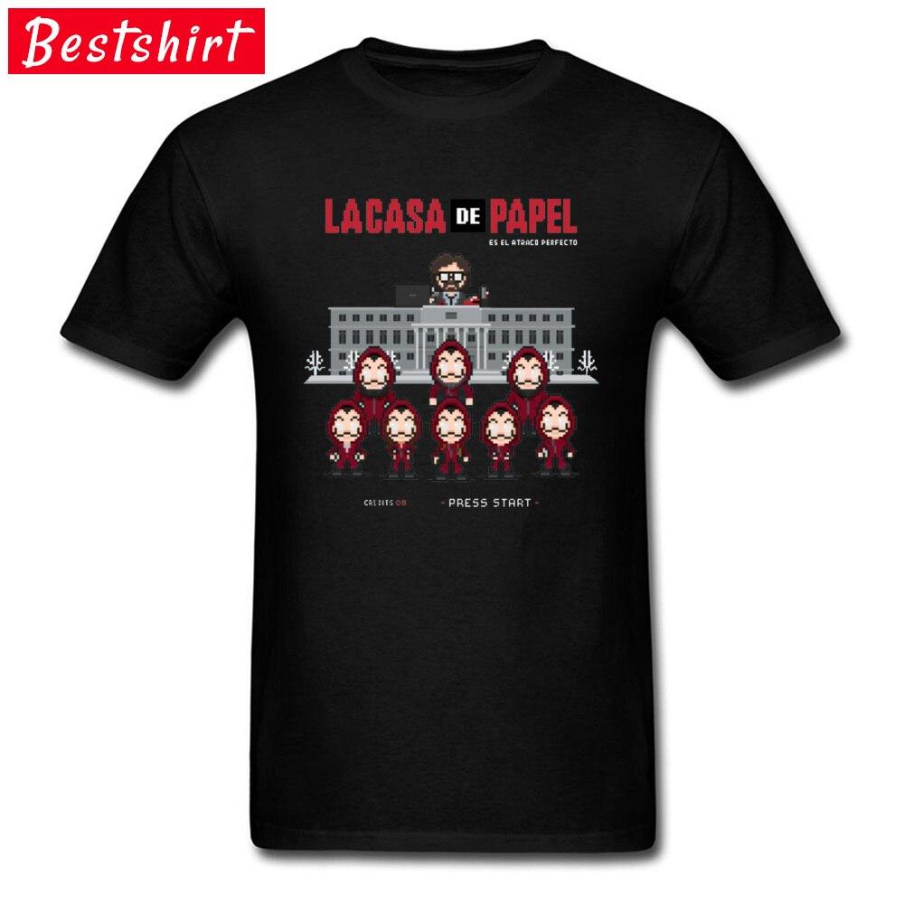 2019 Mexico pesadilla Be e Navidad Camisetas divertidas Camisetas La casa de papel Camiseta Hombre película Camisetas Cutsom propia camisa
