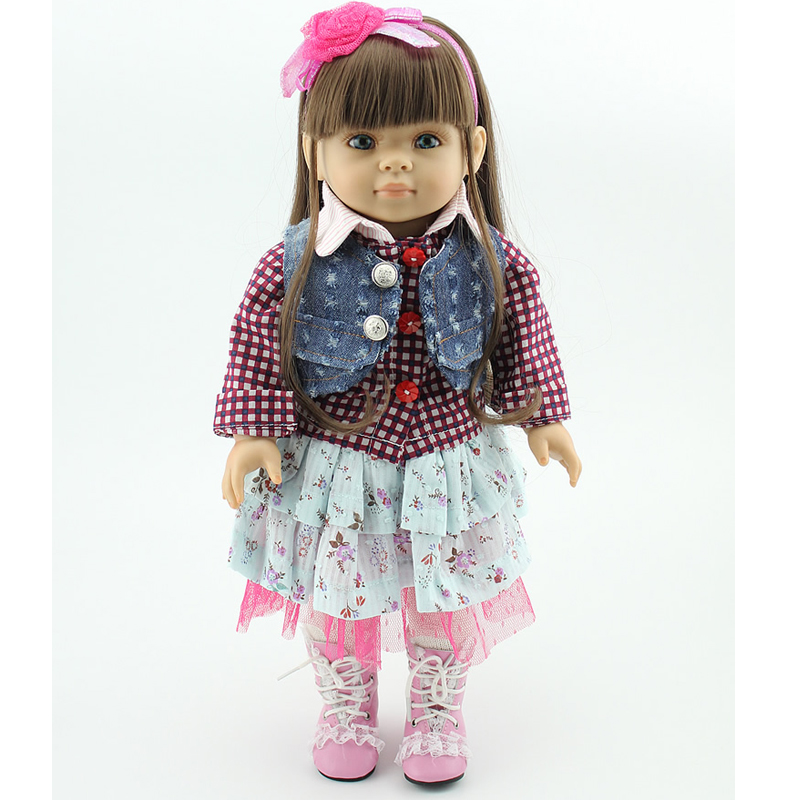 2018 Various Style Best Gift Handmade Lovely Kids Toys American 18 Inches Newborn Baby PVC Girl Dolls various girl for hire
