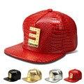 Новый Крокодил Зерна шаблон бейсболка плоским шляпа письмо ЭМИНЕМ приток людей хип-хоп шляпа