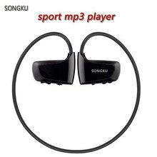 Songku W262 8 ГБ Mp3 плеер Спорт MP3 плеера наушники подножка тренажерный зал Mp3 плеер бесплатная доставка