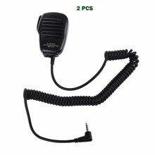 2 uds para Yaesu MH 34B4B altavoz micrófono Clip 3,5mm auricular Audio Jack hombro PTT Mic altavoz para VX 3R FT 60R FT1DR