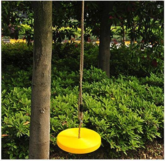 Clic Disc Seat Tree Swing Heavy Duty Rope Kids Children Outdoor Garden Backyard Park Play Fun Load 120kg