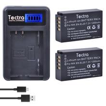 Tectra – appareil photo ENEL20 EN EL20, 2 pièces, batterie LCD, chargeur USB pour Nikon Coolpix A 1 AW1 J1 J2 J3 S1 V3 et