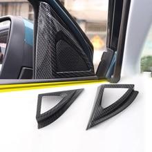 Para Peugeot 3008 GT 5008 2nd 2017 2018 Altofalante Do Carro Tampa Decoração Guarnição Da Porta Da Frente Quadro Triângulo Auto Styling Acessórios 2 pcs