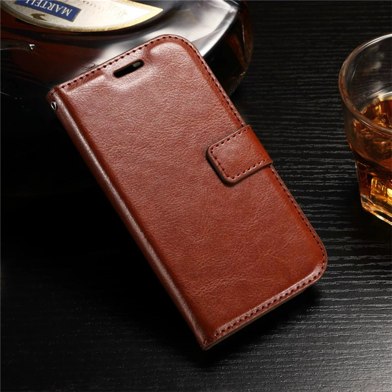 Retro Crazy Horse Pattern PU Leather <font><b>Case</b></font> For Huawei <font><b>Y3</b></font> <font><b>II</b></font> <font><b>Y3</b></font> 2 Flip Stand Wallet <font><b>Phone</b></font> Shell Back Cover With Card Holder