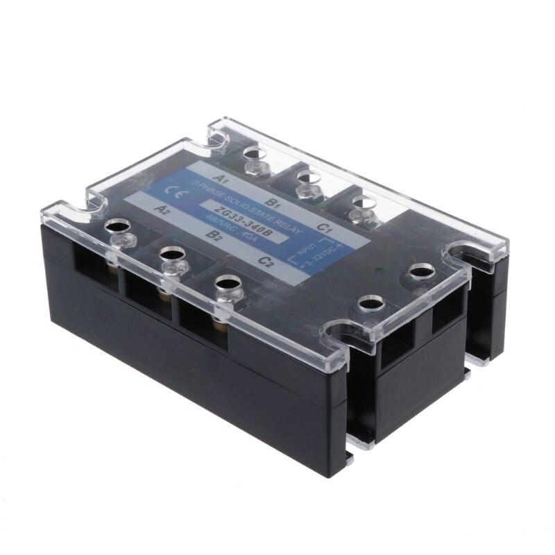цена на OOTDTY ZG33-340B 40A DC Control AC Three Phase Solid State Relay SSR Module