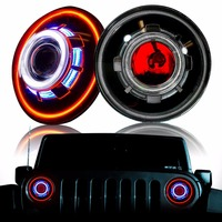 One Set Newest 7 Inch 35w Round Led 7 For Jeep Headlight With H4 H13 Plug