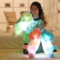 50Cm Colorful Night Light Led Glowing Dogs Luminous Plush Children Toys For Girl Soft Plush Toys