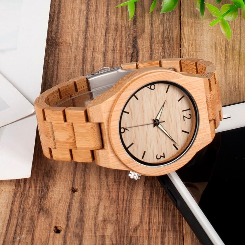 Bobo pássaro de bambu natural luxo pulseira