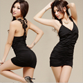 New Women Sexy Lingerie Leopard Costumes Night Dress Deep V-Neck Babydoll Lingerie Female Clothes Apparel