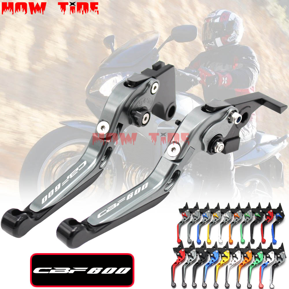 CNC Adjustable Folding Extendable Motorcycle Brake Clutch Levers For <font><b>Honda</b></font> <font><b>CBF</b></font> <font><b>600</b></font> SA <font><b>CBF</b></font> <font><b>600</b></font> 2005 <font><b>2006</b></font> 2007 image