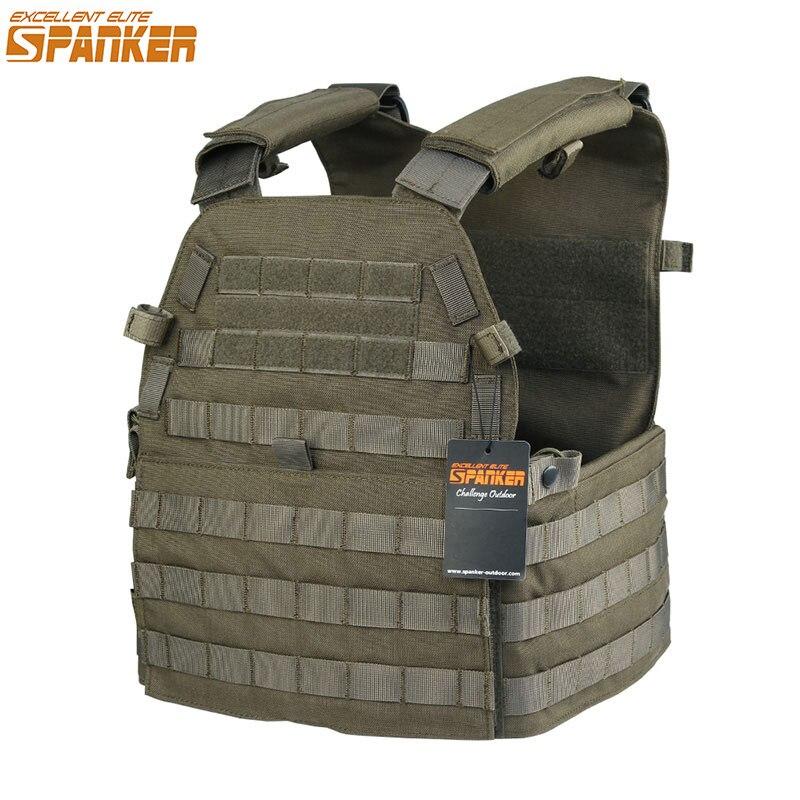 Excelente ELITE SPANKER exterior 6094 militar Molle chalecos caza camuflaje impermeable Nylon chaleco táctico selva equipo