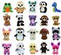 20 unids/lote Ty abucheos de la gorrita tejida animales de peluche de felpa juguetes Ty grandes ojos suave juguetes para los niños ( la mayoría sin etiquetas )