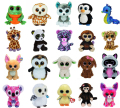 20Pcs/Lot TY Beanie Boos Plush Animals Plush Toys Ty Big Eyes Soft Toys For Kids (most no tags)