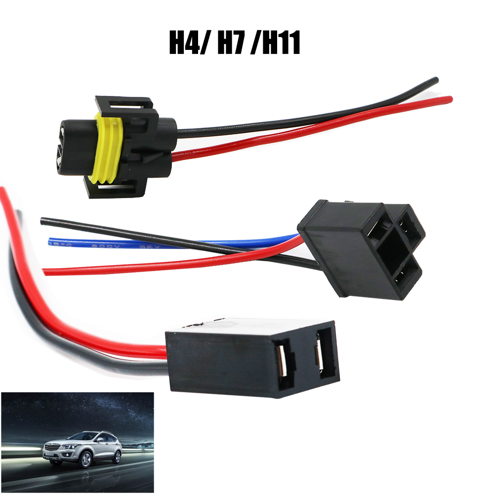 Ysy 200x H4 H7 H11 Wiring Harness Socket Female Adapter Car Auto Automotive Connector Wire Cable Plug For Hid Xenonheadlight Fog Lamp Bulb In Base From Automobiles