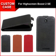 Роскошные Flip Vertical Обложка сумка флип вверх и вниз кожаный чехол для Highscreen Boost, 2 SE, бесплатный подарок
