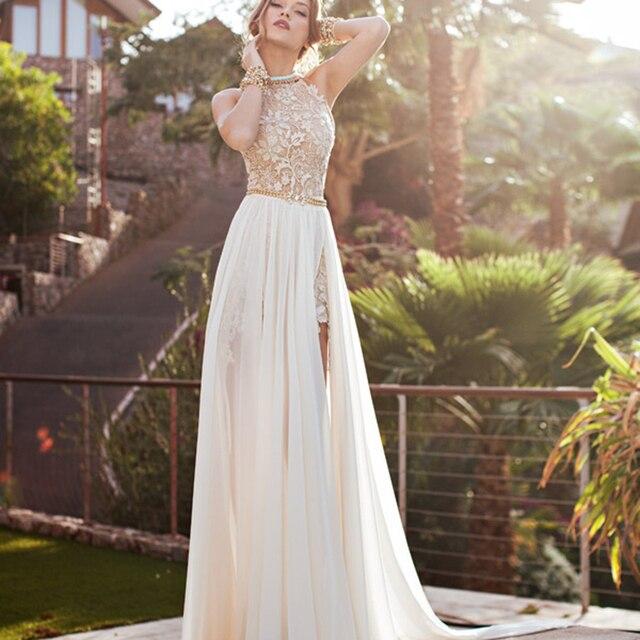 Vestido de novia blanco con vino