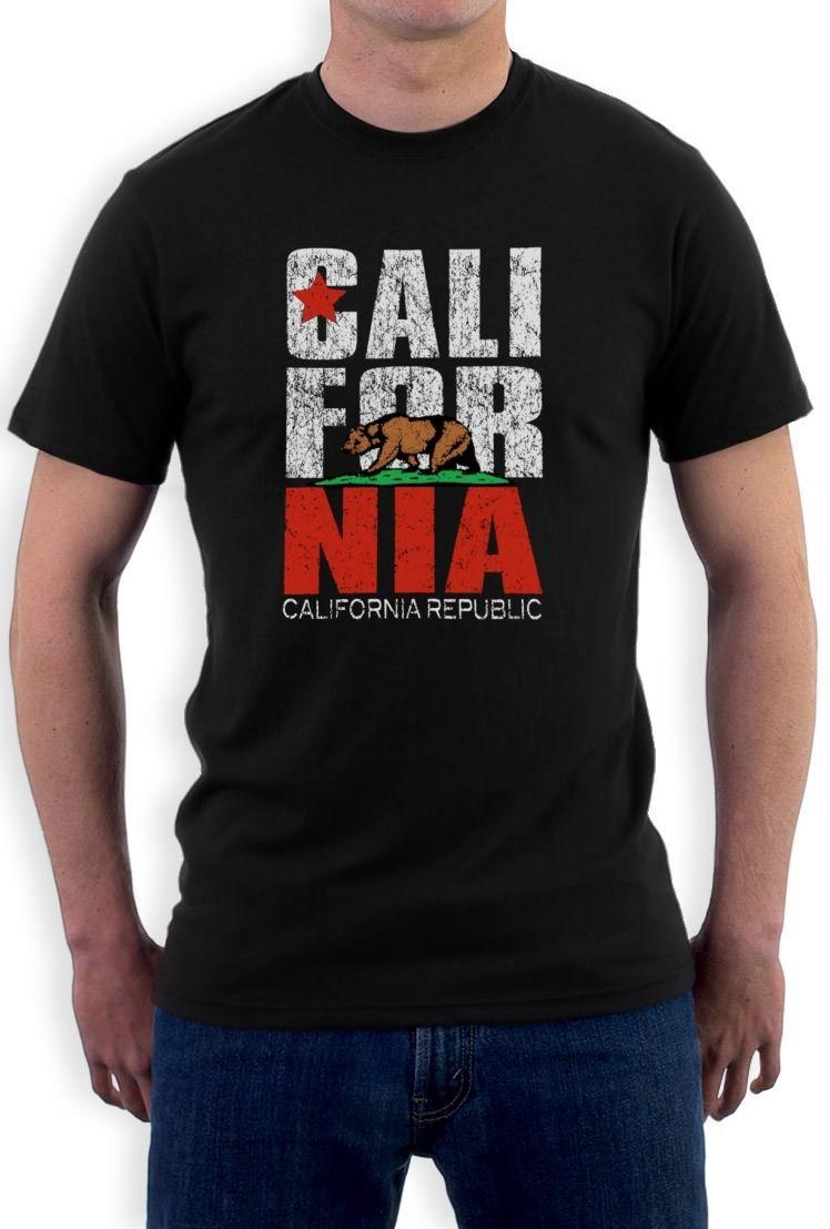 CALIFORNIA REPUBLIC T-Shirt Cali State bear map State Vintage So Cal