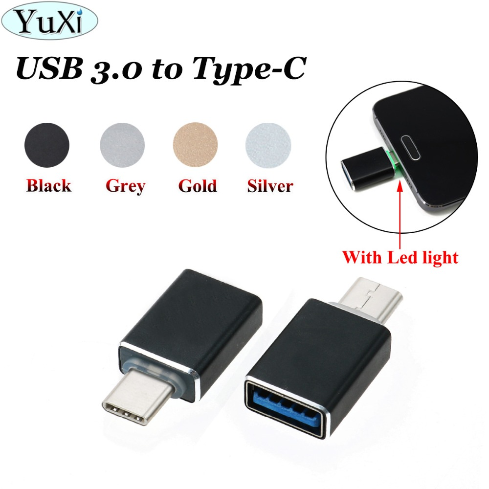 YuXi Type C Male To USB Female Cable Adapter Converter For USB C To USB 3.0 Charger Plug OTG Adapter Converter For Android Phone