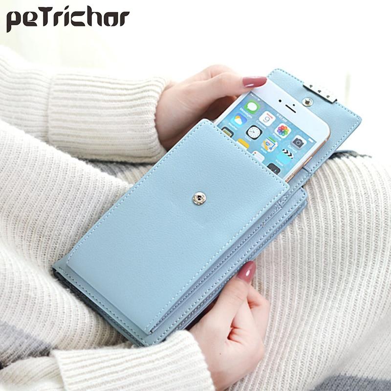 Multi-Function Messenger Shoulder Bag Women Crossbody Cell Phone Bags With Card Holder Ladies Purse Leather Mini Handbags Female tas selempang wanita kecil