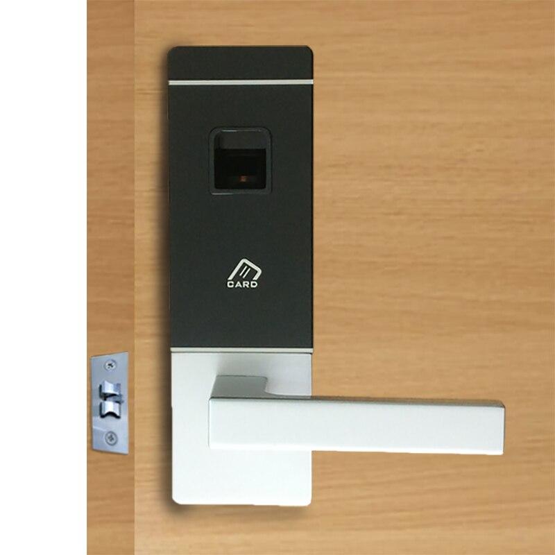 Biometric Door Lock Fingerprint, 4 Cards, 2 Keys Electronic Intelligent Lock Keyless Smart Entry L&S L16091BS