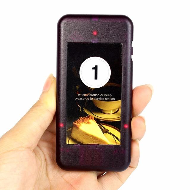 Chamada Pager Coaster Receptor para Sistema de Fila de Paginação Restaurante Sem Fio Chamando Sistema Pager 433 MHz F4427A