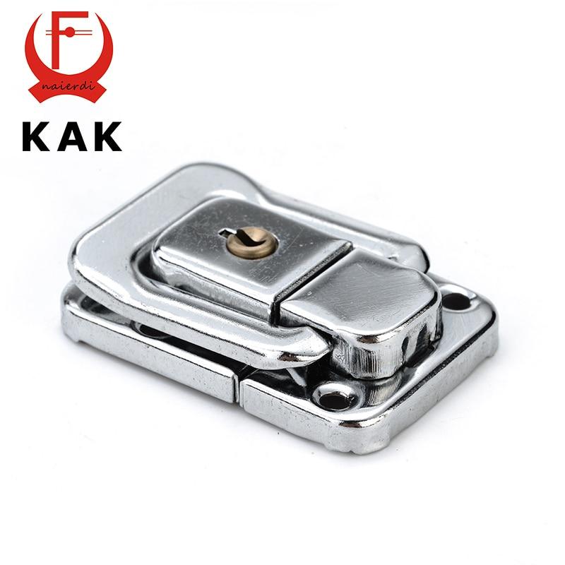 KAK J402 Cabinet Box Square Lock With Key Spring Latch Catch Toggle Locks Mild Steel Hasp For Sliding Door Window Hardware