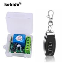 Kebidu DC12V 10A relais 1 CH sans fil RF télécommande commutateur émetteur avec Module récepteur 433mhz télécommande LED