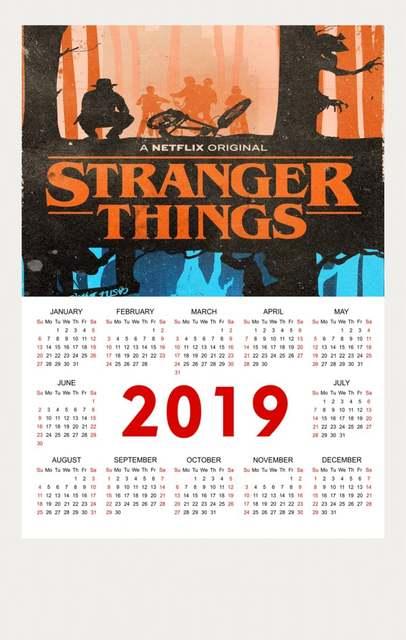 Calendario Stranger Things.1 48 10 De Descuento Cartel De Calendario 2019 En Ciencia Tienda Familiar Decoracion De Dormitorio Cartel De Pared Comprar 3 Get 4 En Adhesivos