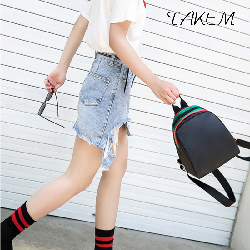 TAKEM 2018 Women's fashion Oxford Backpacks Female School Shoulder bags Teenage girls college student casual bag Simple package menghuo casual backpacks embroidery girls school bag female backpack school shoulder bags teenage girls college student bag
