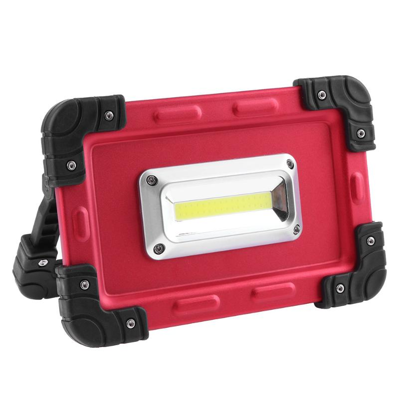 20W COB LED Work Light LED Floodlight Multi-functional Outdoor Searchlight for Camping Emergency Night Light USB Charging