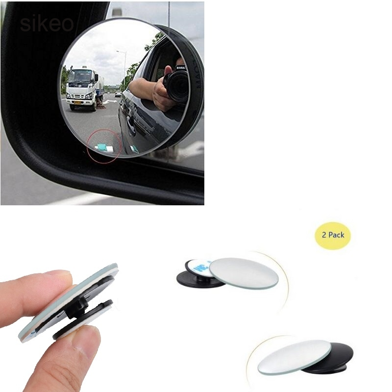 Convex Mirror Blind-Spot Parking Safety Wide-Angle 360-Degree Round Car for Rain-Shade title=