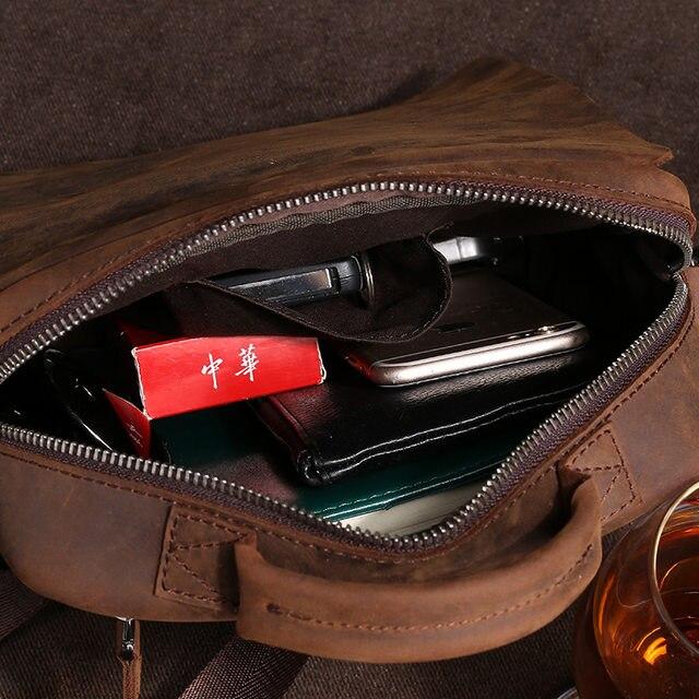 ... Mens Leather Message Shoulder Bags Man Small Vintage Summer Handbags  Crossbody Sling Messenger Bag Designer Satchels ... 0515b6a81c341