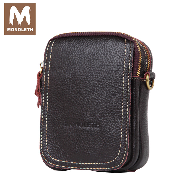 MONOLETH Top Genuine Leather Bag Men mini Shoulder Bags Crossbody Messenger Bag Small Casual Bag New Famouse Design W6002 neweekend genuine leather bag men bags shoulder crossbody bags messenger small flap casual handbags male leather bag new 5867
