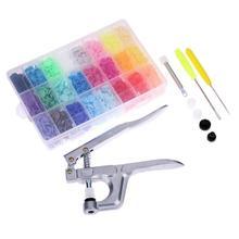 1 Набор защелок кнопка пресс ручная машина крепеж оснастка плоскогубцы Пробивной инструмент T5 смоляные кнопки пресс-шпилька ткань для DIY Швейные Инструменты
