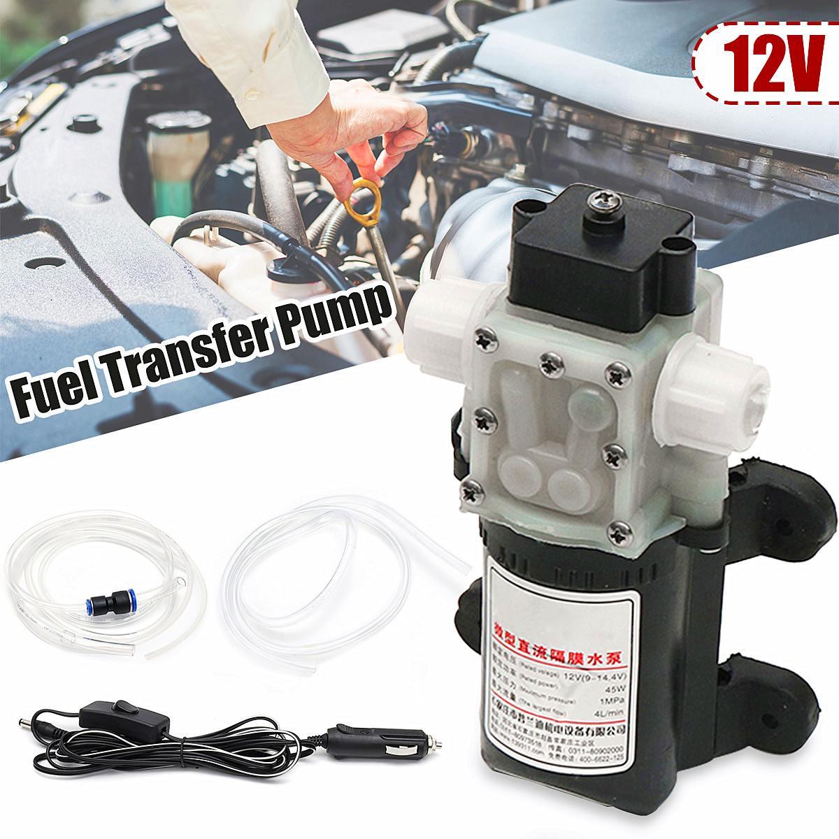 Pompe Submersible électrique de voiture de pompe Submersible de transfert d'huile de carburant de 12 V Diesels avec la pompe de transfert de moteur d'huile de commutateur marche/arrêt